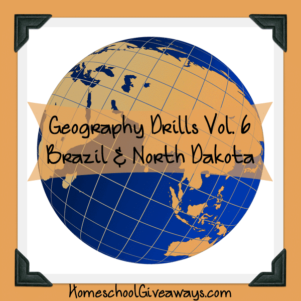 Free Geography Drills Volume 6 - Brazil and North Dakota