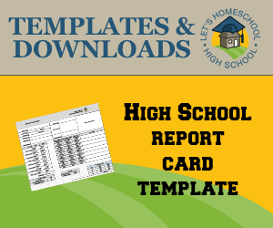 homeschool high school report card template