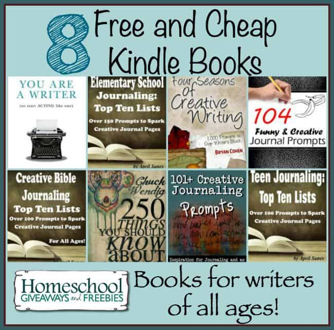 8 Free and Cheap Kindle Books for Writers of All Ages | homeschoolgiveaways.com
