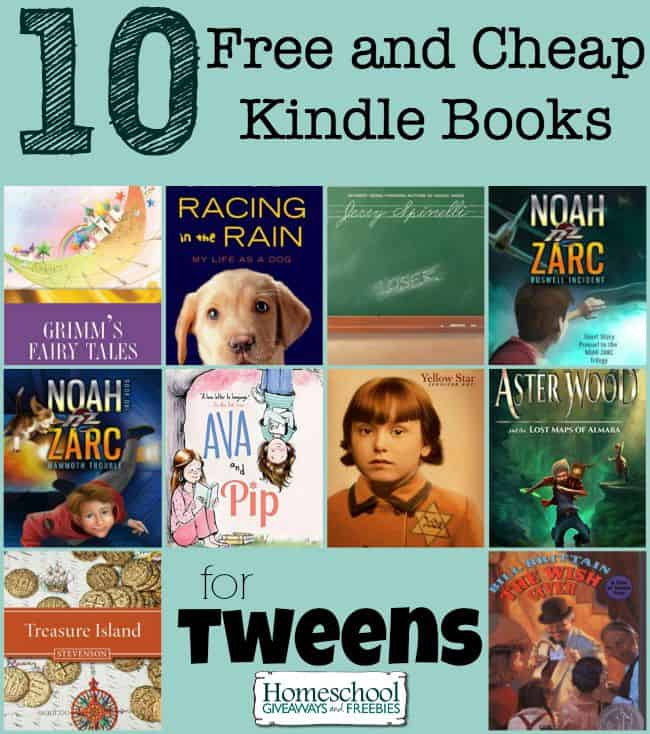 10 Free and Cheap Kindle Books for Tweens