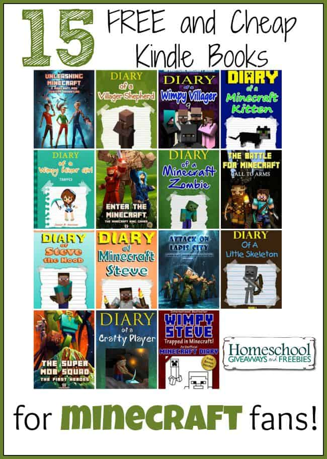 15 FREE and Cheap Kindle Books for Minecraft Fans! | homeschoolgiveaways.com