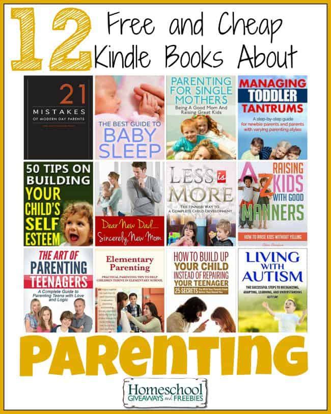 12 Free and Cheap Kindle Books About Parenting | homeschoolgiveaways.com