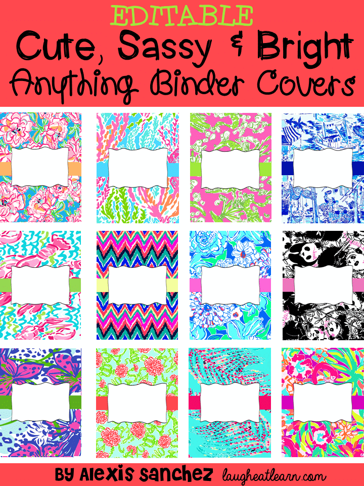 Bewitching image for free printable school binder covers