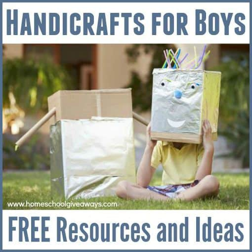 Handicrafts For Boys Free Resources And Ideas Homeschool Giveaways