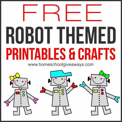 photograph relating to Printable Robot identified as No cost Robotic Themed Printables and Crafts - Homeschool Giveaways