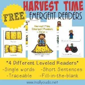 FREE Harvest Time Emergent Readers_square
