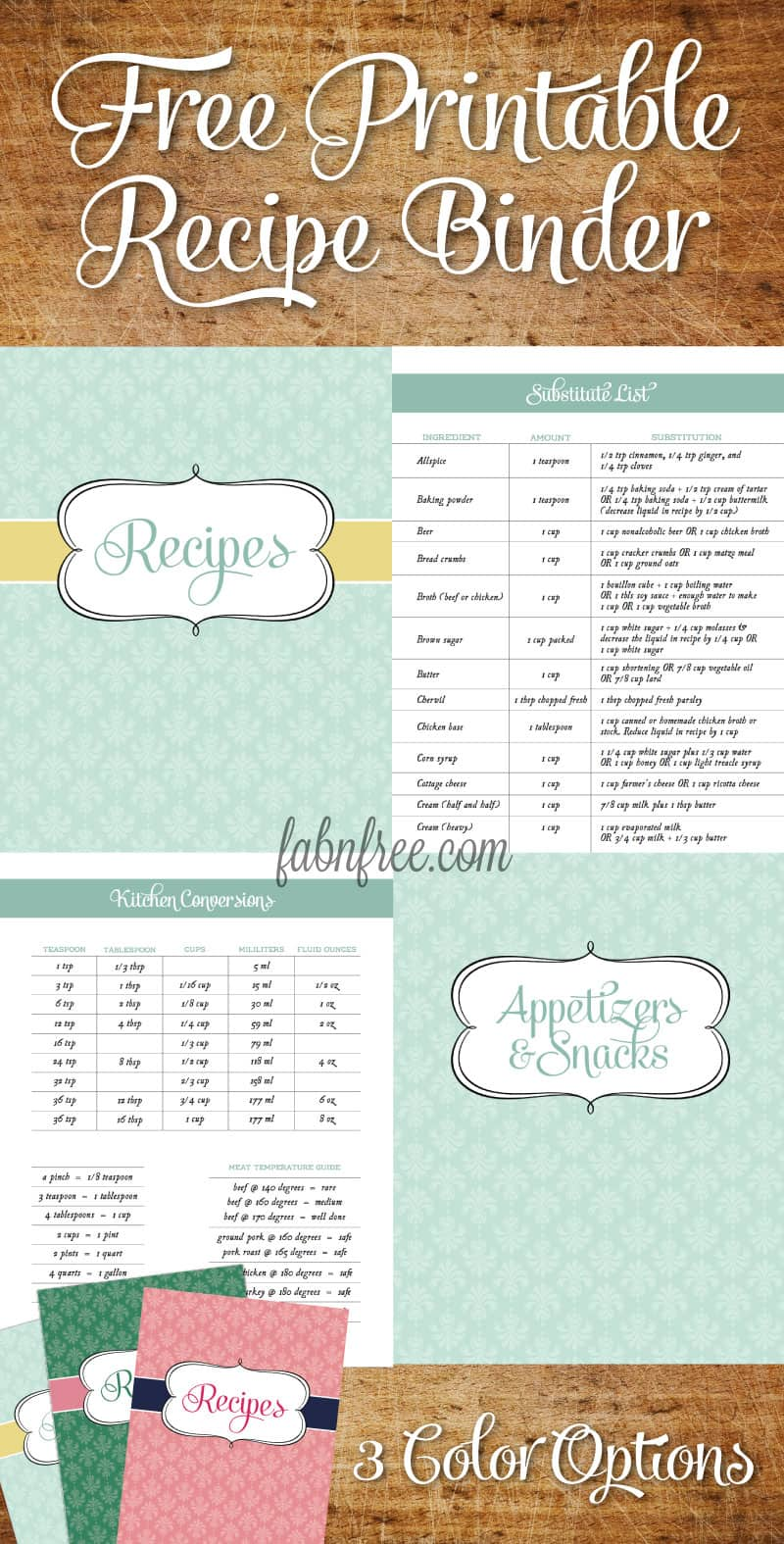 Lucrative image with printable cookbook