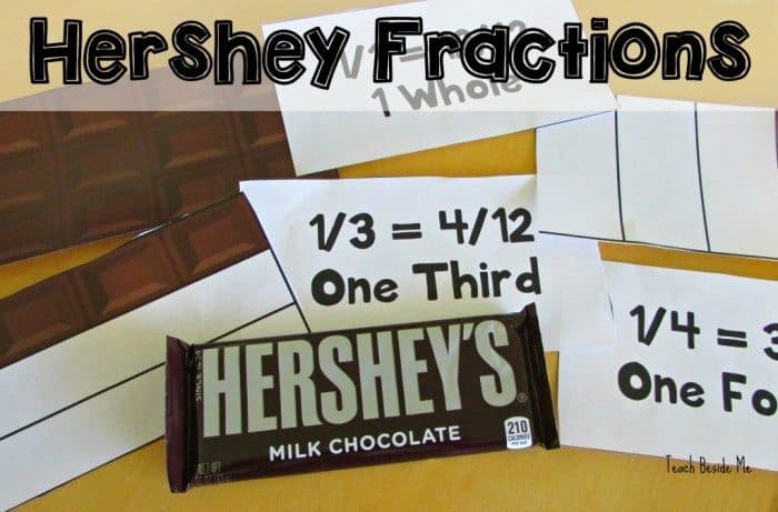 free printable hershey fractions matching cards. Black Bedroom Furniture Sets. Home Design Ideas