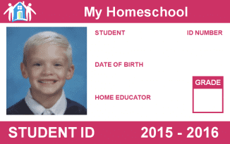 Free printable homeschool student id card for Homeschool id template