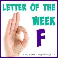 Teaching letters in a fun way helps kids remember them more easily! Check out these 100+ Resources for teaching the letter F to your preschoolers! :: www.homeschoolgiveaways.com