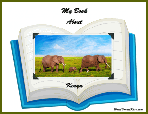 My Book About Kenya Geography Copywork