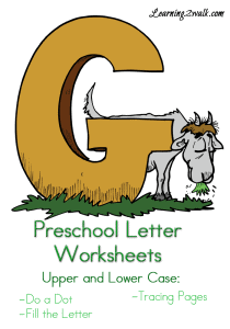 Preschool-Letter-Worksheets-G