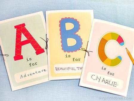 Influential image with regard to free printable abc book