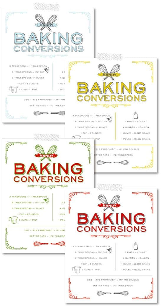 Eloquent image intended for printable kitchen conversion chart