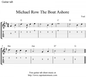 michael-row-the-boat-ashore-guitar-tab