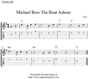 michael-row-the-boat-ashore-guitar-tab