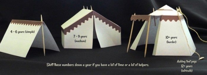 tents & Free Printable Bible Story Tents