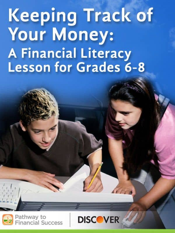 keeping track of your money free lesson for grades 6 8 homeschool