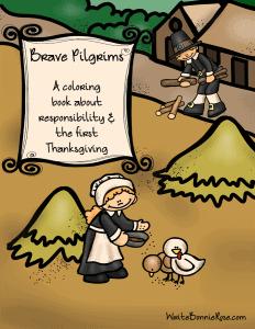 Brave Pilgrims Coloring Book sm
