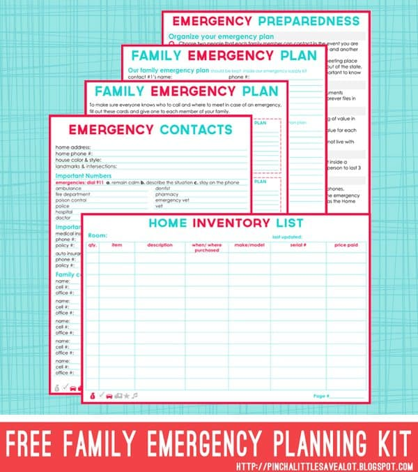 free printable emergency contact list