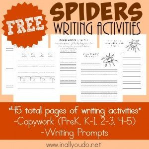 FREE Spiders Writing Activities_square