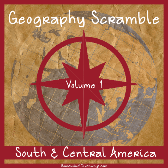 Geography Scramble Vol 1 South and Central America