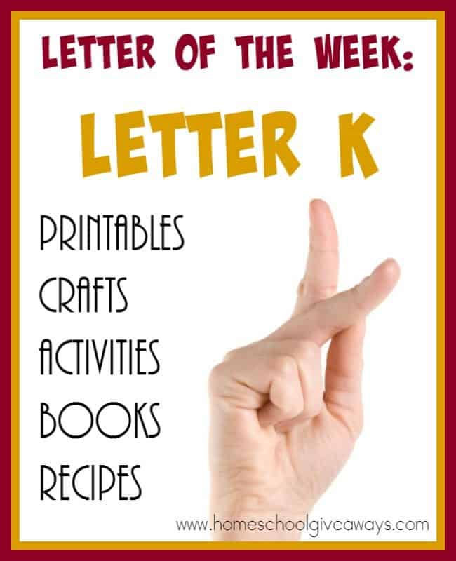 Over 70 resources to help you teach the letter K. Activities, crafts, {free} printables, books & recipes! :: www.homeschoolgiveaways.com