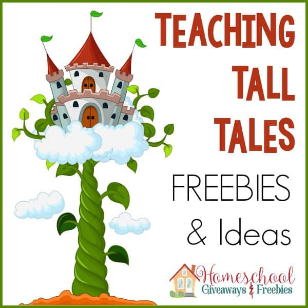 photograph relating to Printable Tall Tales identified as Education Tall Stories Freebies and Plans - Homeschool Giveaways