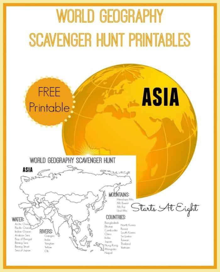 World-Geography-Scavenger-Hunt-Printables-Asia