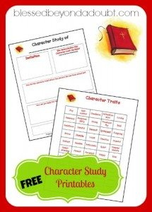 homeschool-character-study