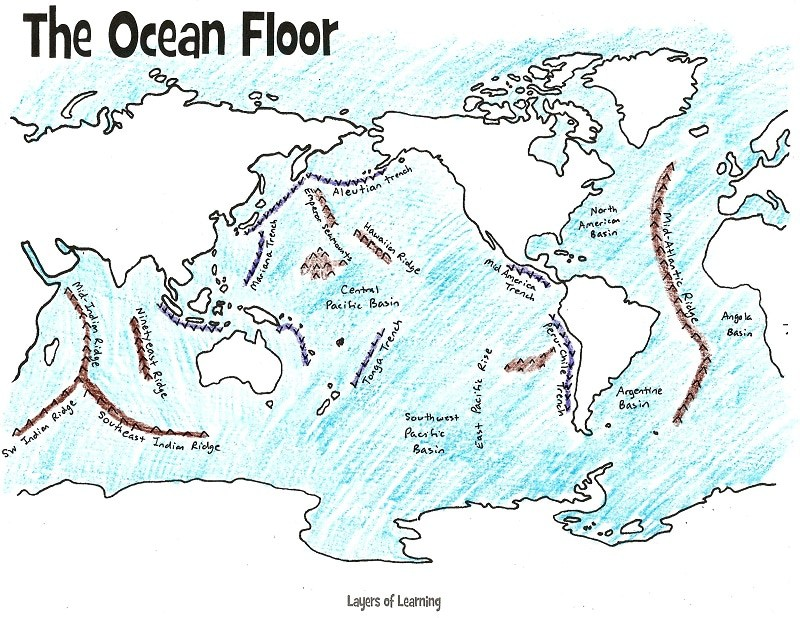Mapping The Ocean Floor Freebie And Unit Study