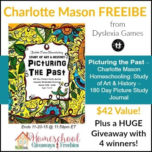 Charlotte mason picture study journal freebie and huge giveaway with freebie picturing the past charlotte mason homeschooling study of art history 180 day picture study journal includes 90 notable paintings dated solutioingenieria Choice Image