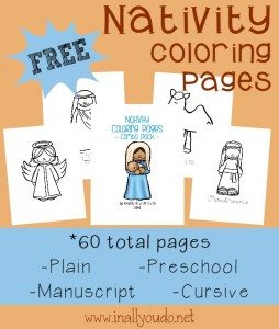 FREE Nativity Coloring Activities