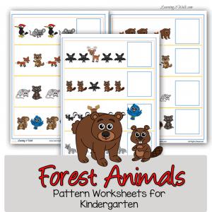 Forest-Animals-Pattern-Worksheets-for-Kindergarten-square