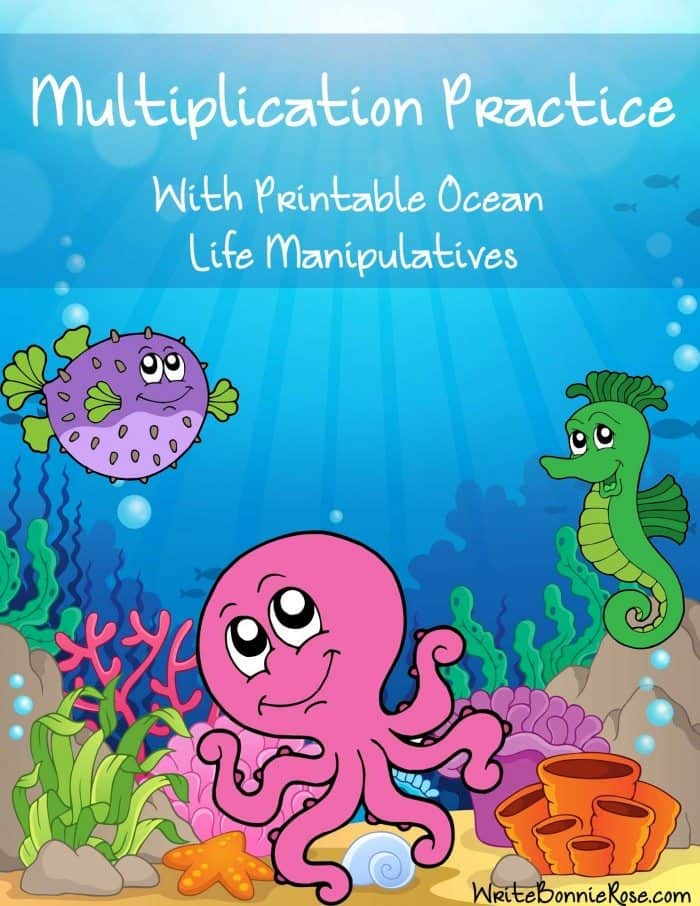 Multiplication-Practice-with-Printable-Ocean-Life-Manipulatives