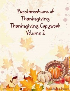 Thanksgiving Copywork Volume 2