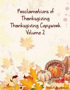 Thanksgiving Copywork Volume 2