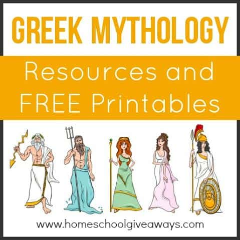 Greek Mythology Resources and FREE Printables - Homeschool Giveaways