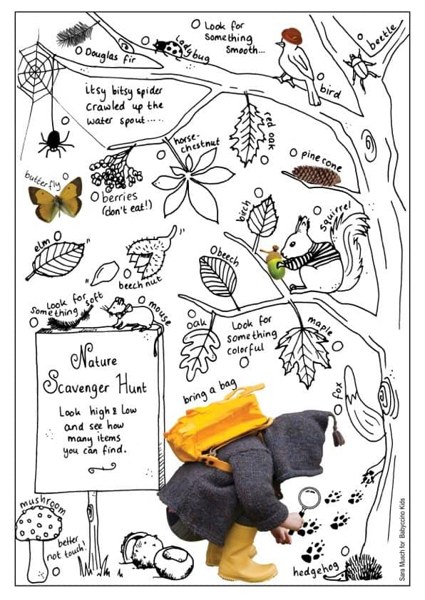 It is a picture of Persnickety Nature Scavenger Hunt Printable