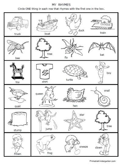 Free Rhymes Worksheet Printables - Homeschool Giveaways