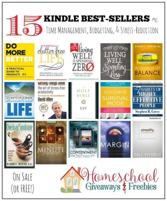 15 Discounted Best-Selling Kindle Books on Budgeting, Time