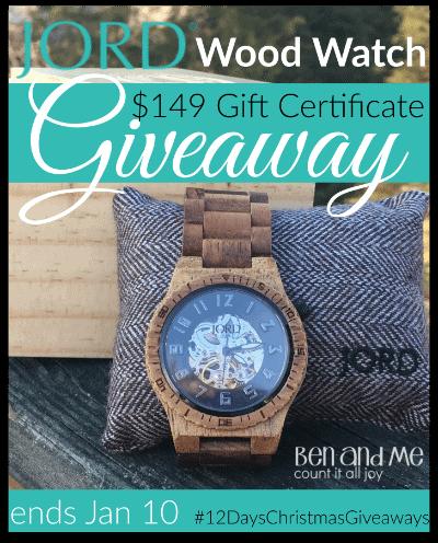 400 JORD Wood Watch Giveaway