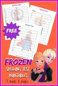 Frozen-Spelling-Test-Printables