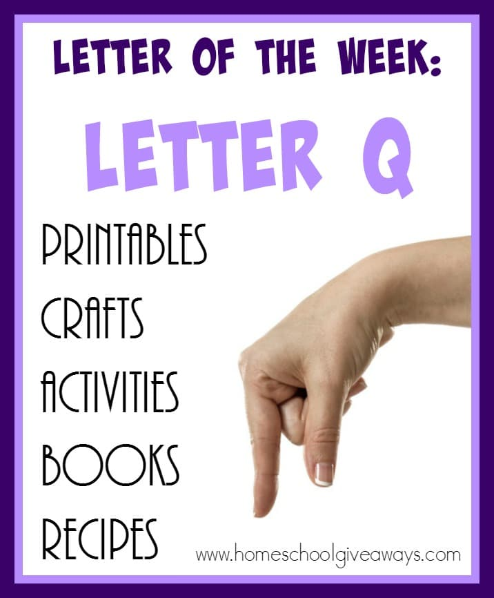 "Teaching the letter ""Q"" can be tricky. It's a letter that gets confused a lot, but here are 75+ resources to help you out! :: www.homeschoolgiveaways.com"