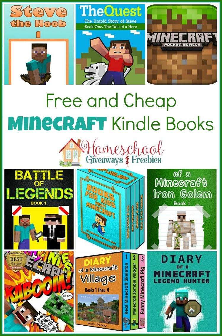 Will there be a new Kindle under the tree this year? Fill it with these free and cheap Minecraft ebooks! | homeschoolgiveaways.com