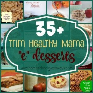 """It's easy to stick to the THM Lifestyle with these DELICIOUS """"E"""" desserts on the menu! Over 35 to choose from in this list! :: www.homeschoolgiveaways.com"""