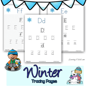 These-cute-winter-tracing-pages-are-sure-to-help-your-child-with-their-preschool-letter-writing.-square