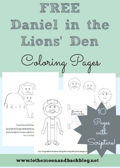 FREE Daniel in the Lion\'s Den FREE Coloring Pages