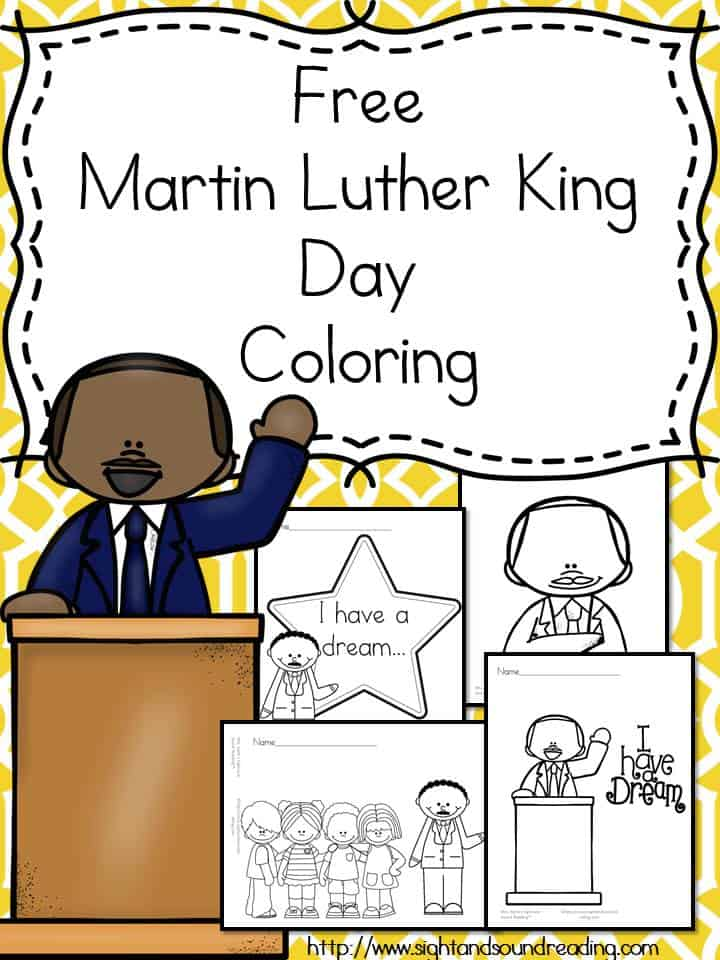 Free Martin Luther King Jr. Day Coloring Pages ...