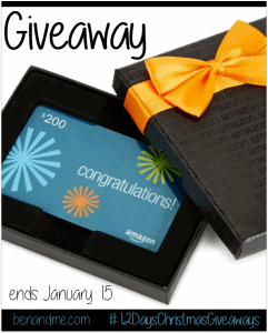 $200 Amazon Gift Card Giveaway #12DaysChristmasGiveaways